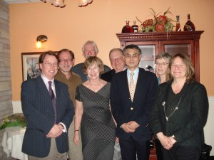 Jean with seven of the Chairs who worked with her. Front row, left to right: Jonathan Edmondson, Jean Levy, Bob Wakabayashi, Marlene Shore. Back row, left to right: Adrian Shubert, Nick Rogers, Richard Hoffmann, Libby Cohen