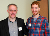 Professor William Jenkins (left) Graduate Program Director in History with first-year PhD student Kevin Chrisman, recipient of an Ontario Trillium Scholarship