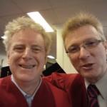 PhD graduate James David Cullingham and Chair Department of History Marcel Martel