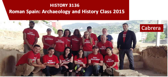 History 3136 Roman Spain: Archaeology and History Class Pic 2015