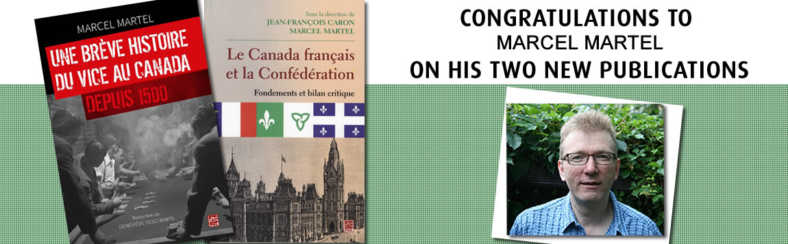 Congratulations to Marcel Martel on his two new publications