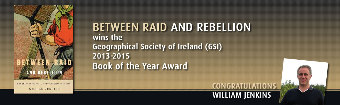 Between Raid and Rebellion wins the Geographical Society of Ireland (GSI)  2013-2015  Book of the Year Award