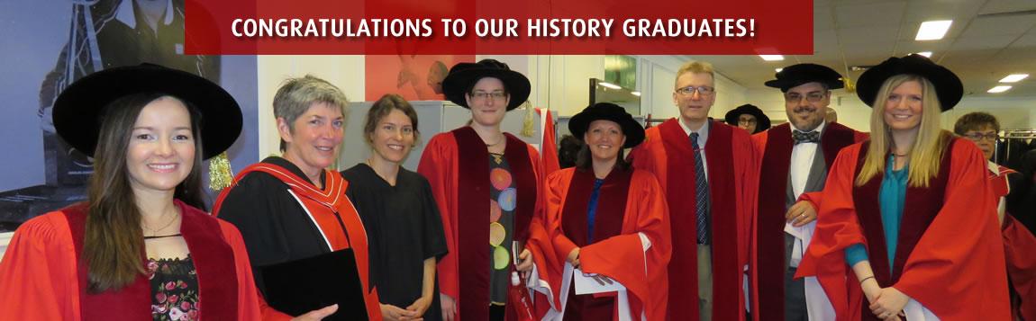 Congratulations to our history graduates!