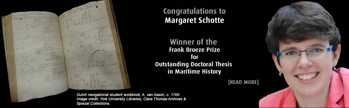Congratulations to Margaret Schotte for winning the Frank Broeze Prize