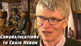 Congratulations to Craig Heron