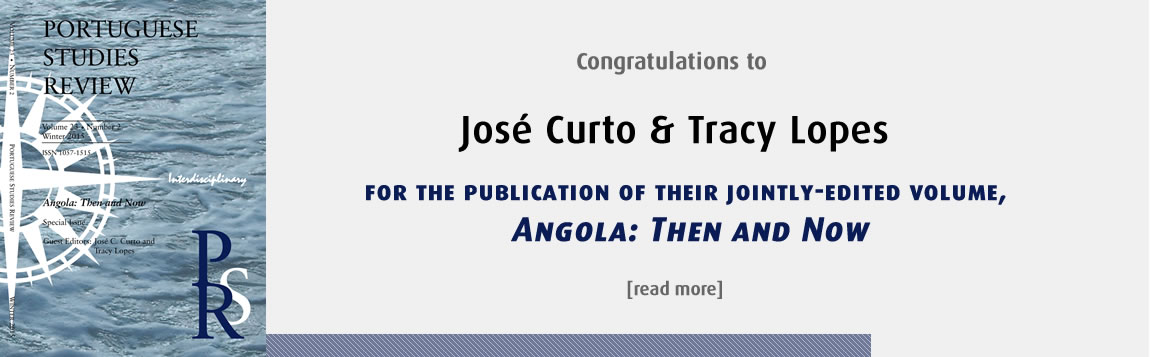 Congratulations to José Curto and Tracy Lopes on Angola: Then and Now