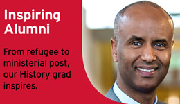 Inspiring Alumnus: from refugee to ministerial post, our History grad inspires.