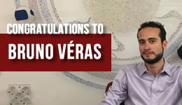 Congratulations to Bruno Véras