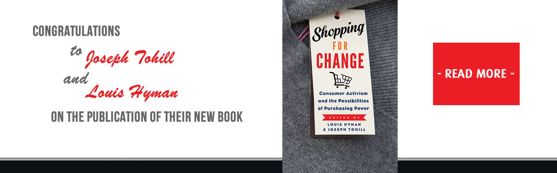 Congratulations to Dr Joseph Tohill on the publication of Shopping for Change