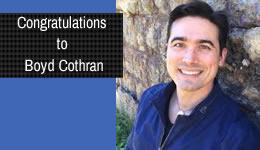Congratulations to Boyd Cothran