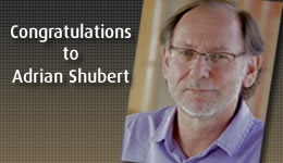 Congratulations to Adrian Shubert