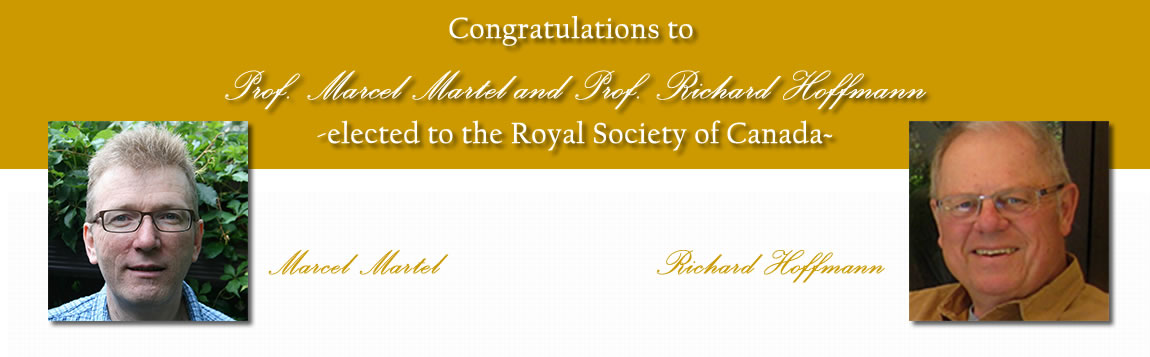 Congratulations to Marcel Martel and Richard Hoffmann - Elected to the Royal Society of Canada
