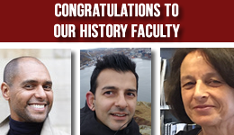 Congratulations to our History Faculty