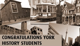 Congratulations York History Students