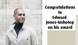Congratulations to Edward Jones-Imhotep