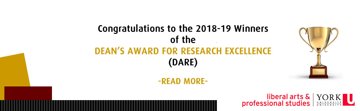 THE 2018-19 DEAN'S AWARD FOR RESEARCH EXCELLENCE (DARE)