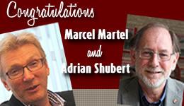 Congratulations Marcel Martel and Adrian Shubert
