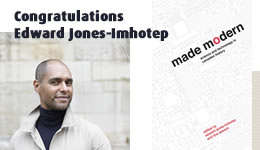 "Congratulations to Edward Jones-Imhotep on his new book, ""Made Modern"""