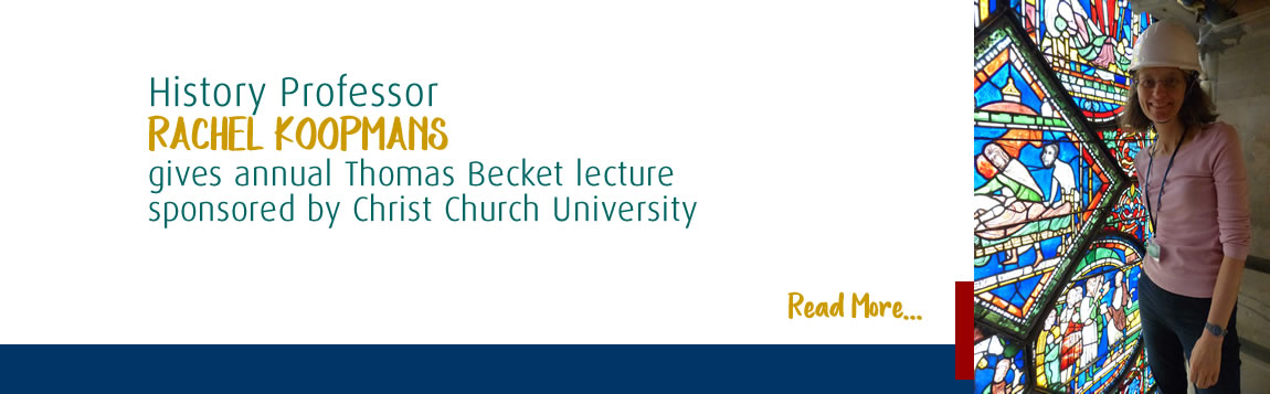 Rachel Koopmans Gives Annual Thomas Becket Lecture