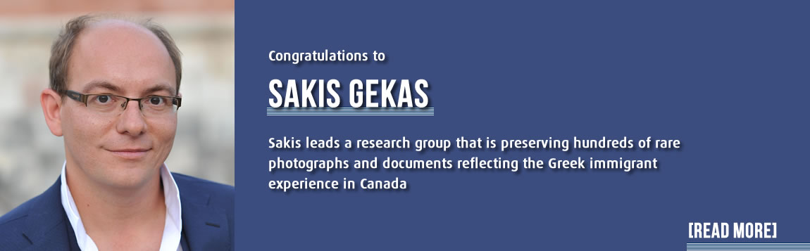 York University history Professor Sakis Gekas leads a research group that is preserving hundreds of rare photographs and documents reflecting the Greek immigrant experience in Canada