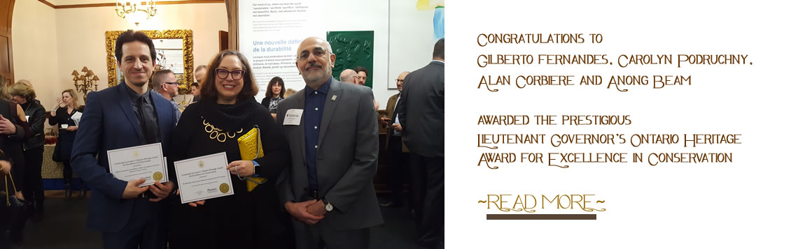 Congratulations to Gilberto Fernandes, Carolyn Podruchny, Alan Corbiere and Anong Beam