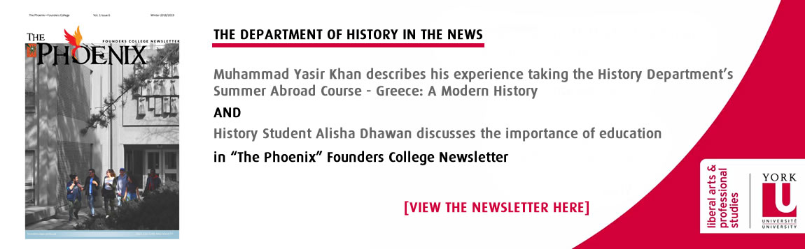 The Department of History in the News