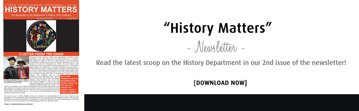 History Matters Newsletter