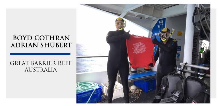 Boyd Cothran and Adrian Shubert, Great Barrier Reef, Australia