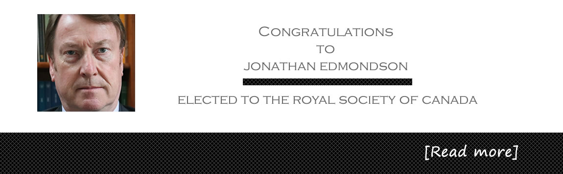 Congratulations to Jonathan Edmondson - Elected to the Royal Society of Canada