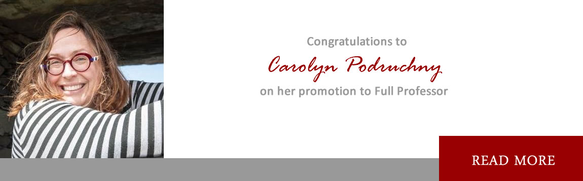 Congratulations to Carolyn Podruchny on her promotion to Full Professor