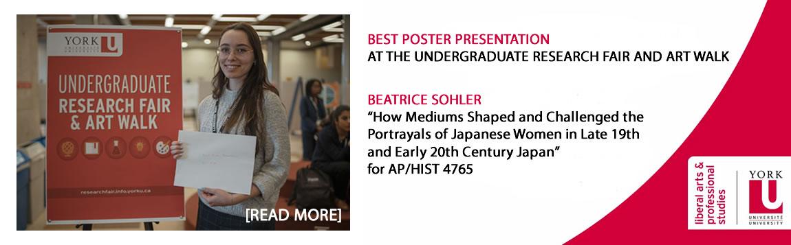 Best Poster Presentation Undergraduate Research Fair 2020